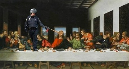 JESUS BORN ,2,000 years later -THE OUTCOME? Pepper-spray-police-state